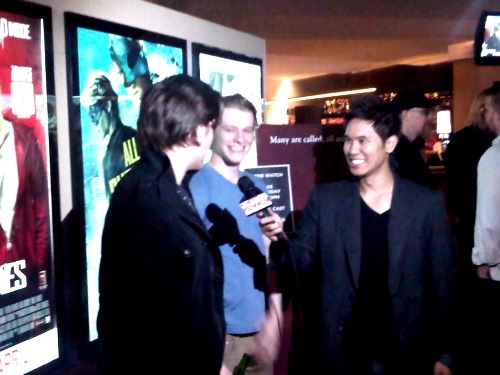 "Andy Mihn Trieu interviewing Stars Jason Trost & Lucas Till ""All Superheroes Must Die"""