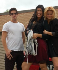 Kai Pantano Shailla Quadra Jennifer Fitzgerald behind the scenes of What She Would Have Wanted