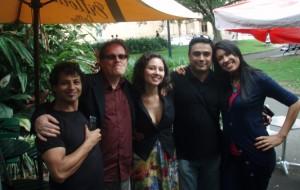 Phillip Debs Jack Douglas Olivia Stiefel Parth Nanavati Shailla Quadra behind the scenes of The Kiss
