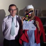"Tony Hunt & Shailla Quadra on Set for another take of ""Do You Want Tequila"""