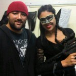 "Actor-Writer-Director-Producer James Peniata and Actress Shailla Quadra behind the scenes of ""ATOMIC KINDGOM"""